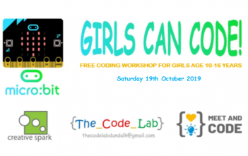 Free Coding Workshop For Girls (10-16 years) 19 October 2019