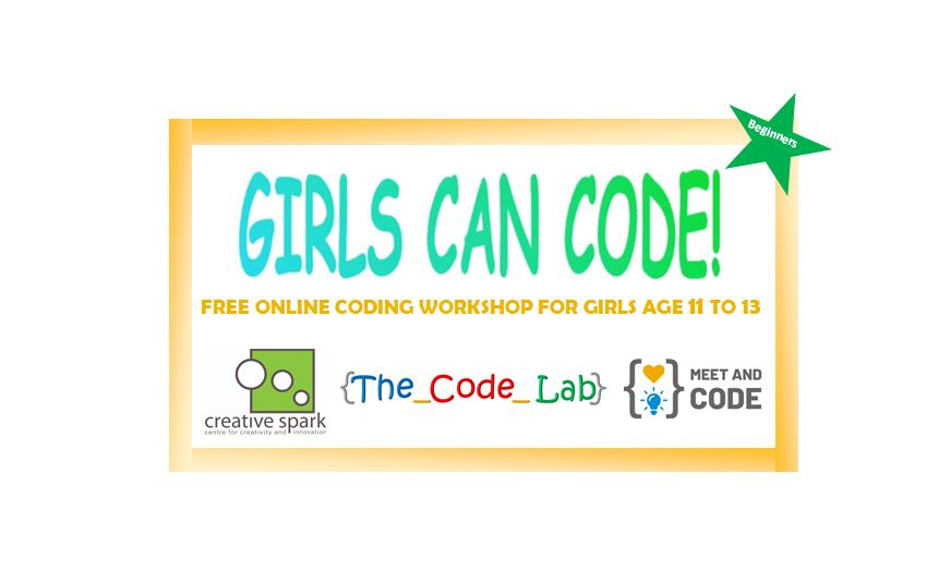 Free Coding Event for Girls Age 11 to 13 (Beginners)